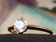 EB 0.80ct Round Diamond Solitaire Engagement Ring