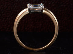 EB East-West 0.82ct Emerald Cut Diamond Engagement Ring