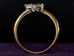 EB 0.82ct East-West Pear Cut Diamond Engagement Ring