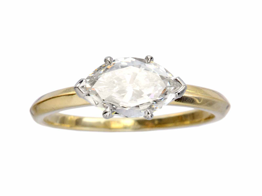 EB East-West 0.84ct Marquise Cut Diamond Engagement Ring