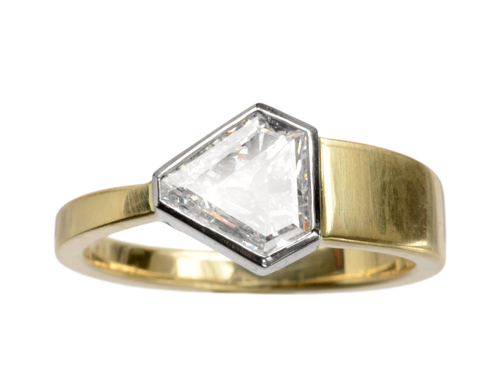 EB 0.84ct Shield Diamond Ring
