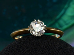 EB 0.86ct Old Mine Cut Diamond Solitaire Engagement Ring