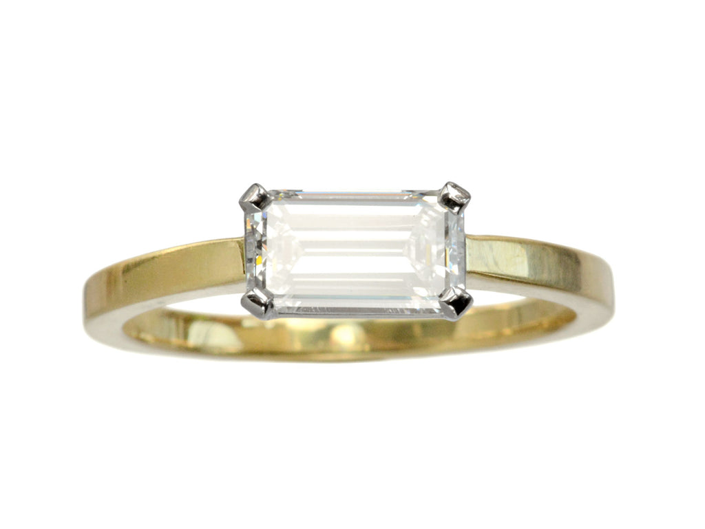 EB 0.87ct Emerald Cut Ring