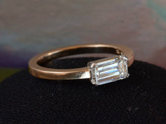 EB 0.90ct Emerald Cut Ring