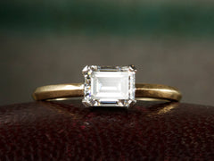 EB 0.90ct Emerald Cut Diamond Engagement Ring