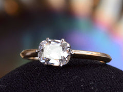 EB 0.92ct Old Mine Cut Diamond Solitaire Engagement Ring
