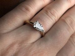EB 0.92ct Pear Diamond Ring (Worn)