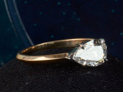 EB 0.92ct Pear Diamond Ring