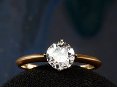 EB 0.95ct Old Cut Diamond Engagement Ring