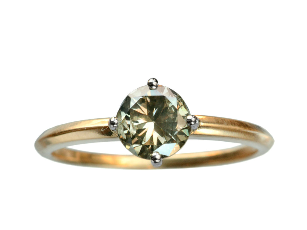EB Greenish-Grey Diamond Engagement Ring