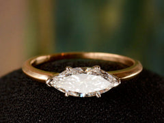 EB 0.96ct East-West Marquise Diamond Ring