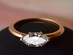 EB 0.96ct East-West Marquise Cut Diamond Ring