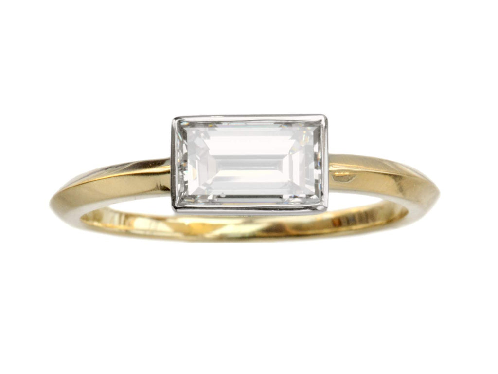 EB 0.97ct Rectangular Diamond Ring