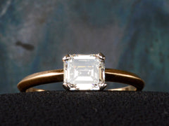 EB East-West Emerald Cut Diamond Engagement Ring