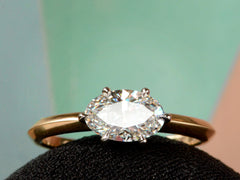 EB East West 0.99ct Oval Diamond Engagement Ring