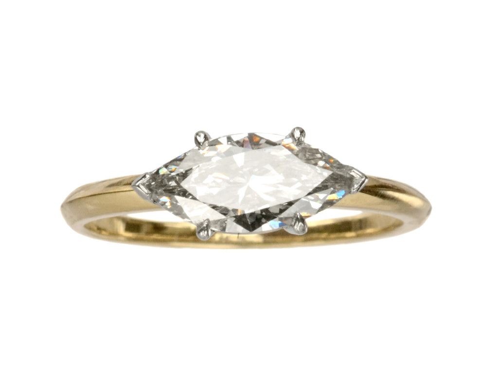 EB Modern 1.01ct Marquise Ring