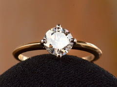 EB 1.01ct Round Brilliant Cut Diamond Engagement Ring