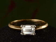 EB East-West 1.02ct Emerald Cut Diamond Engagement Ring