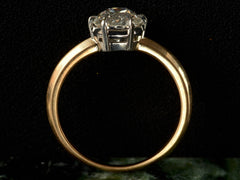 EB 1.02ct Old Mine Cut Diamond Solitaire Engagement Ring