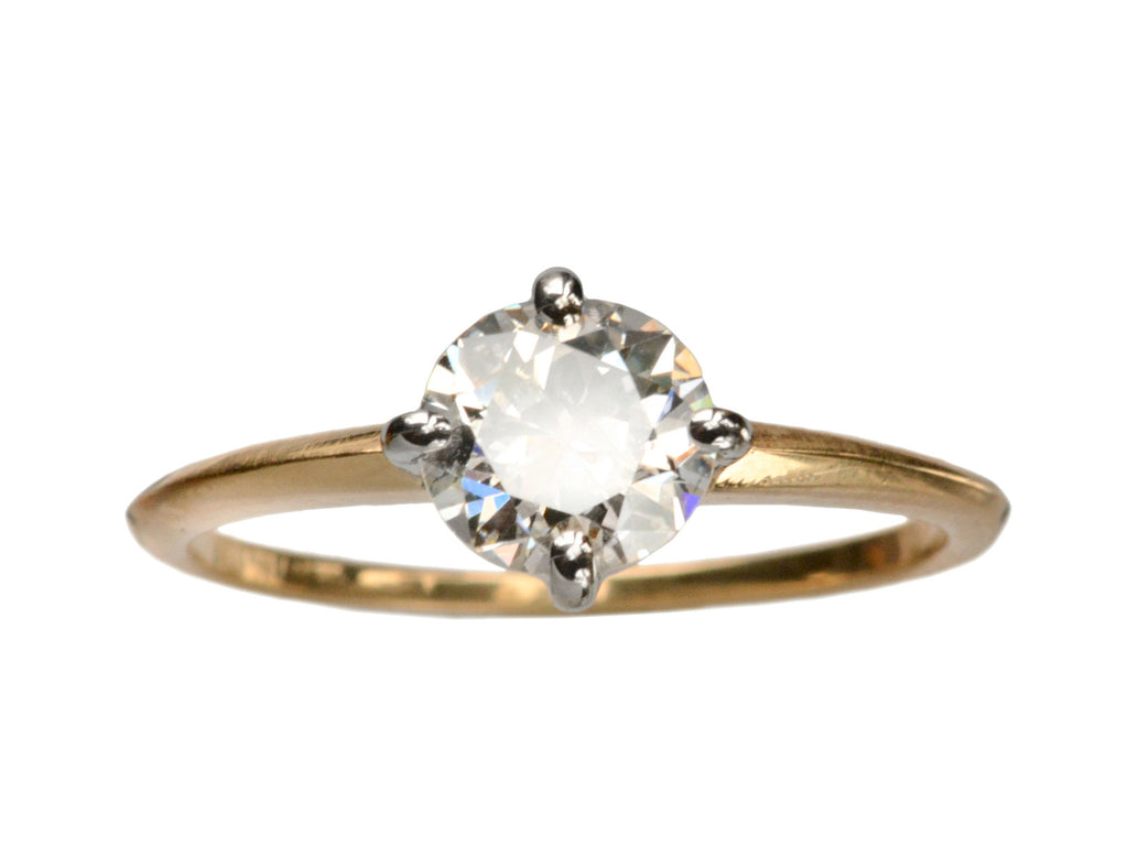 EB 1.04ct European Cut Diamond Ring