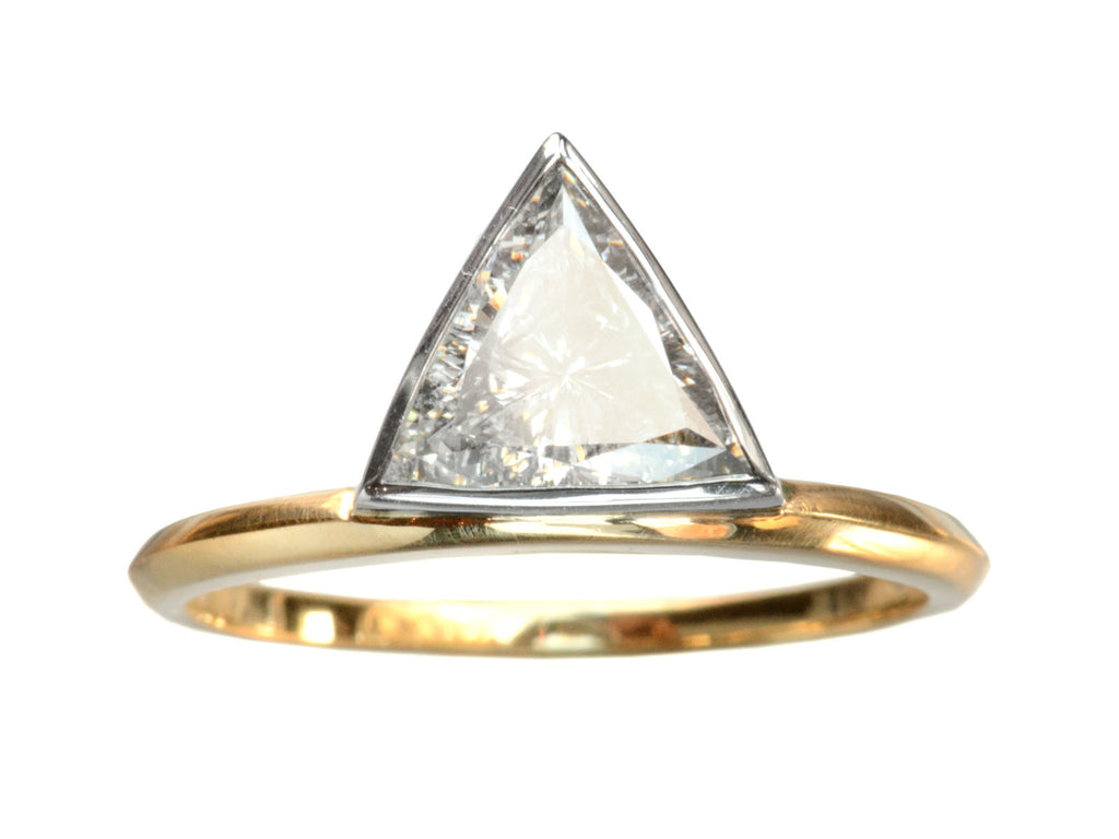 EB 1.04ct Triangular Diamond Engagement Ring