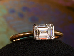 EB 1.10ct Emerald Cut Diamond Engagement Ring