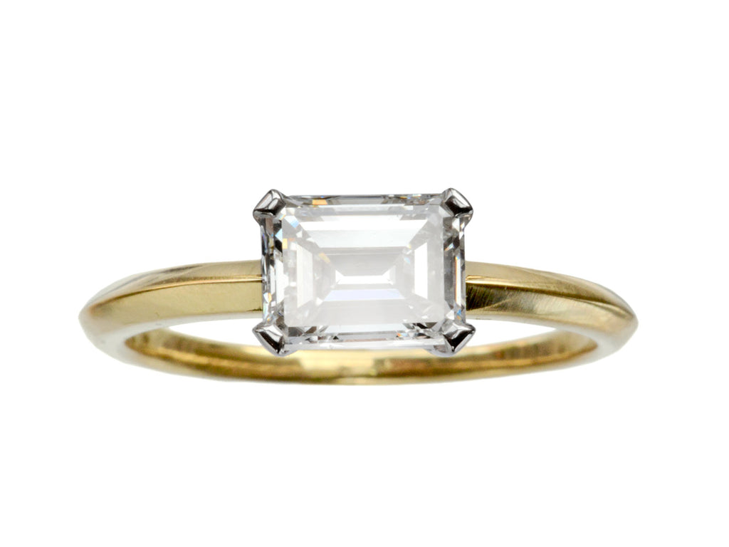 EB East-West 1.15ct Emerald Cut Diamond Engagement Ring