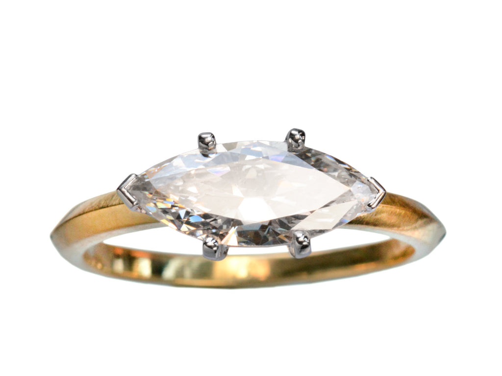 EB 1.19ct East-West Marquise Diamond Ring