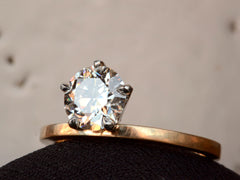 EB Five Prong 1.24ct Old Cut Diamond Engagement Ring