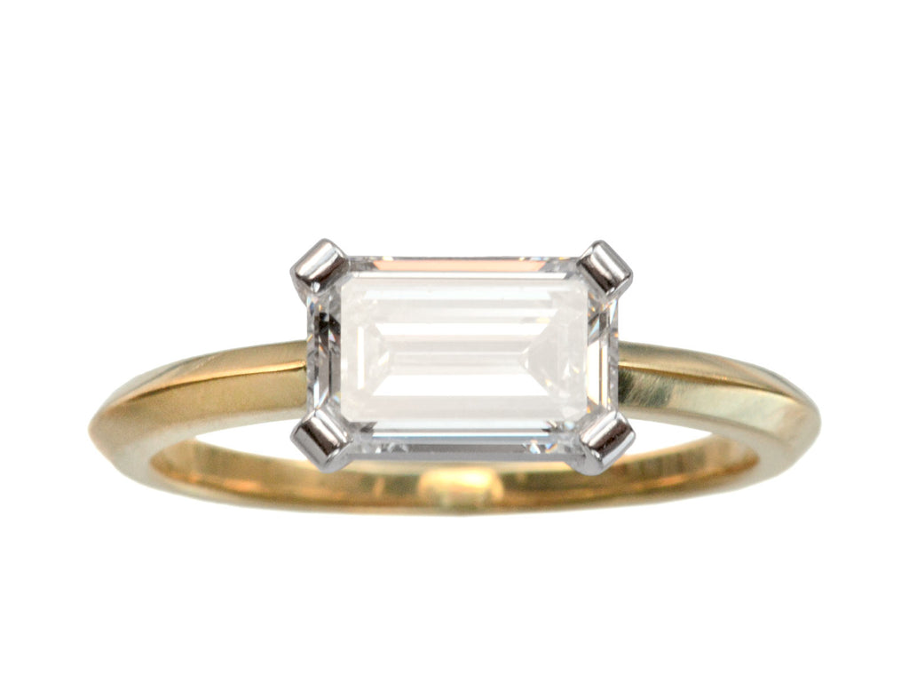 EB 1.24ct East-West Emerald Cut Diamond Ring