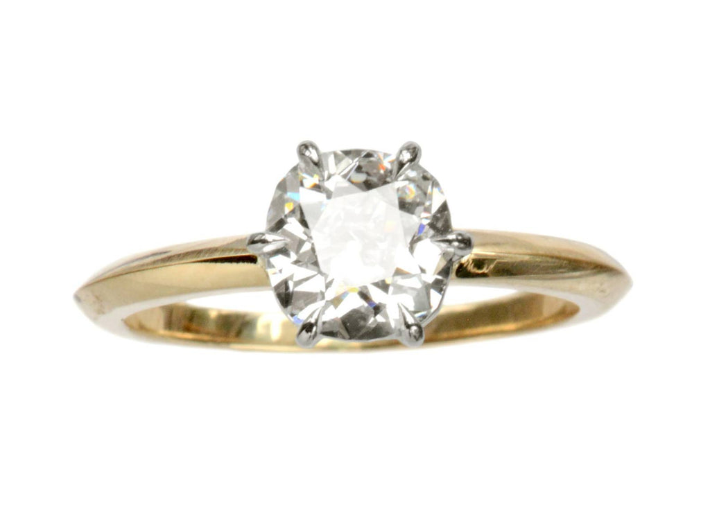 EB 1.26ct Old Mine Cut Diamond Solitaire Engagement Ring