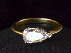 EB 1.27ct Pear Diamond Ring