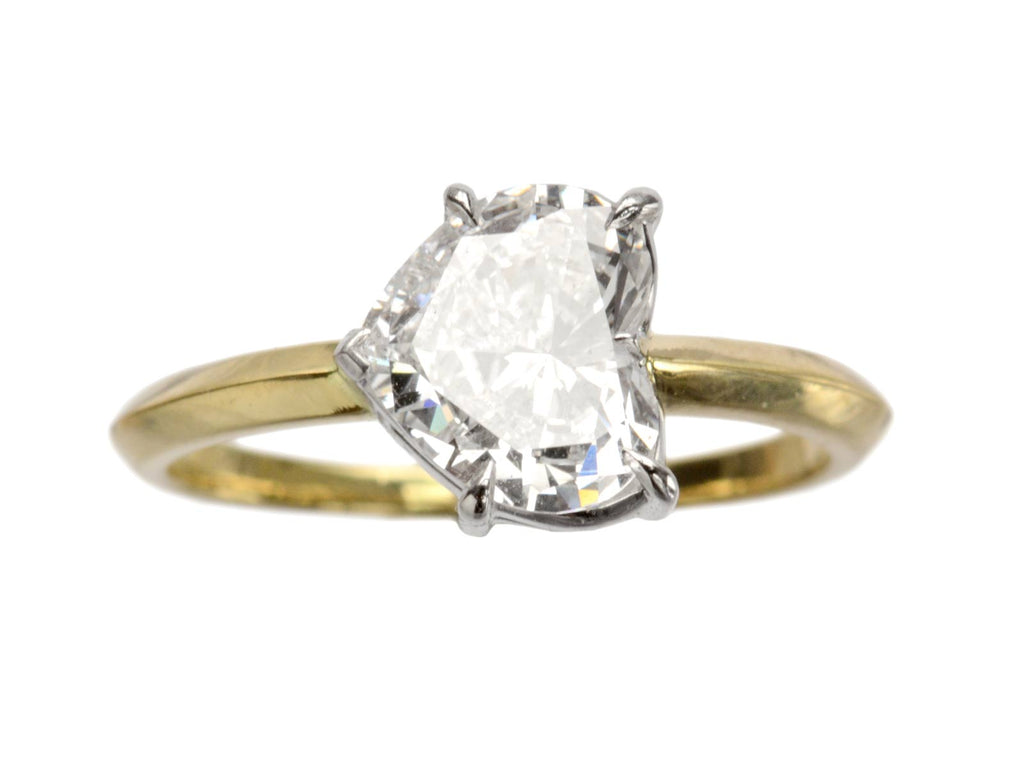 EB 1.33ct East-West Heart Diamond Engagement Ring