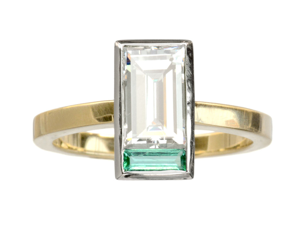 EB 1.36ct Diamond & Emerald Ring
