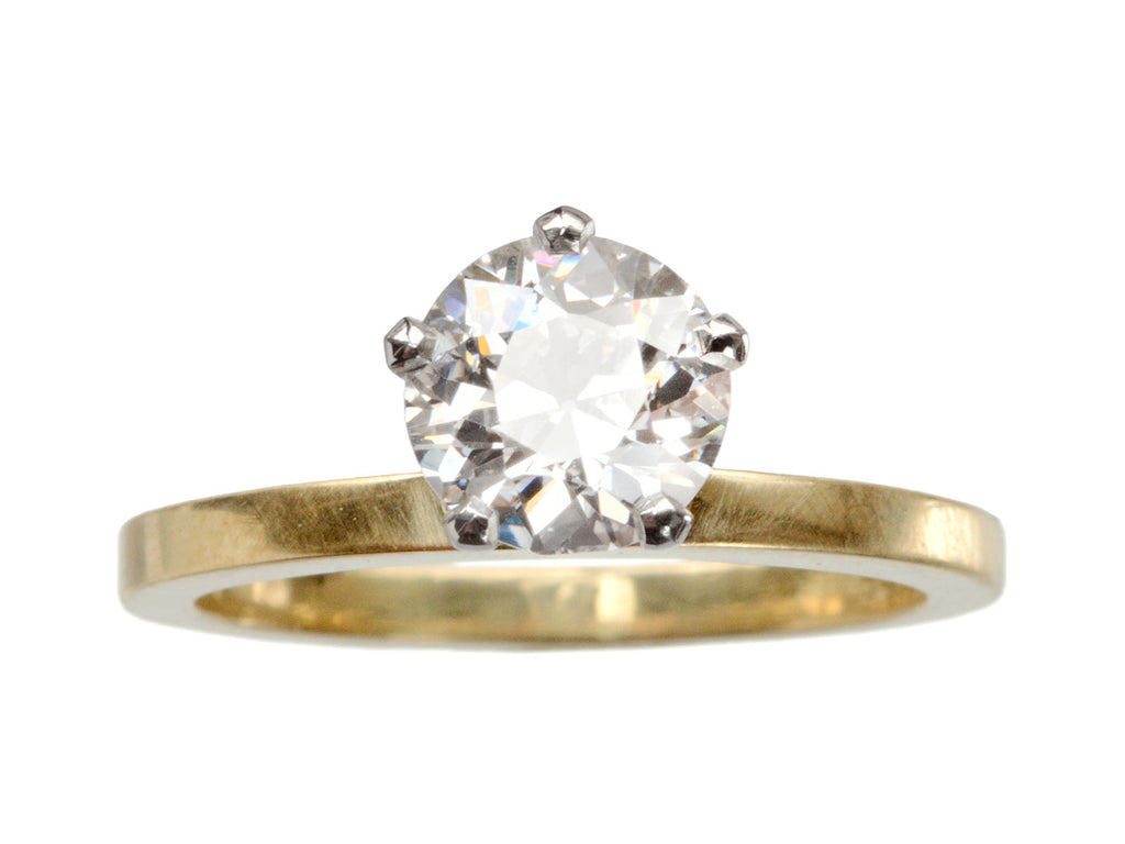 EB Five Prong 1.47ct Old Cut Diamond Engagement Ring
