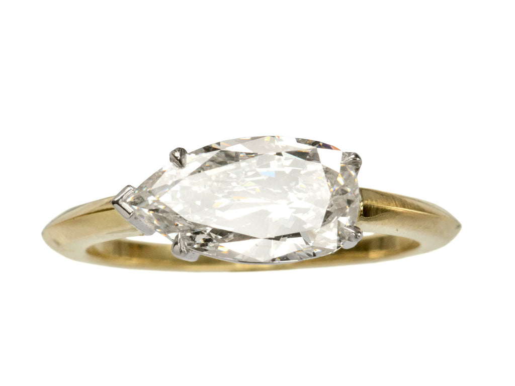 EB 1.47ct Pear Diamond Engagement Ring