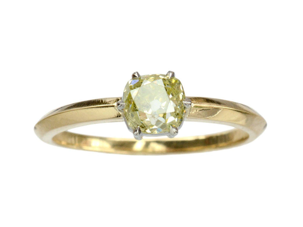 EB Greenish-Yellow Diamond Ring