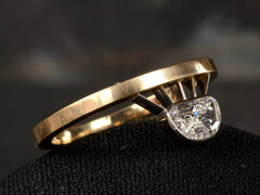 EB Ascendant Half Moon Diamond Ring