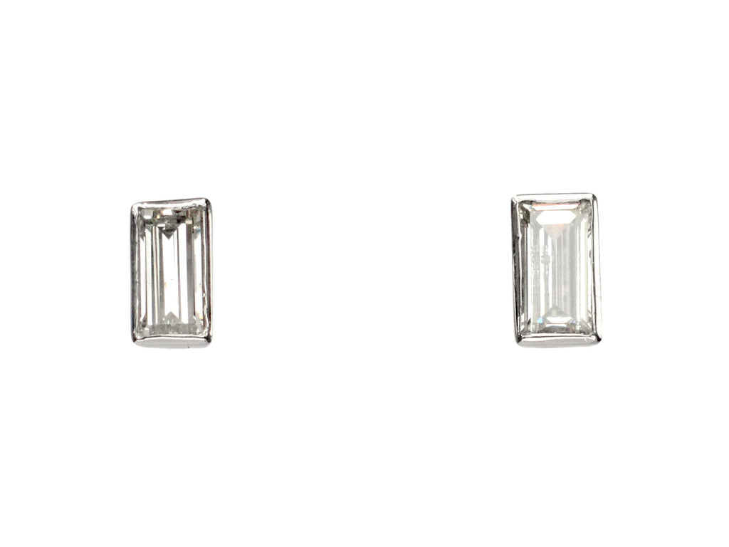 EB Rectangular Diamond Studs