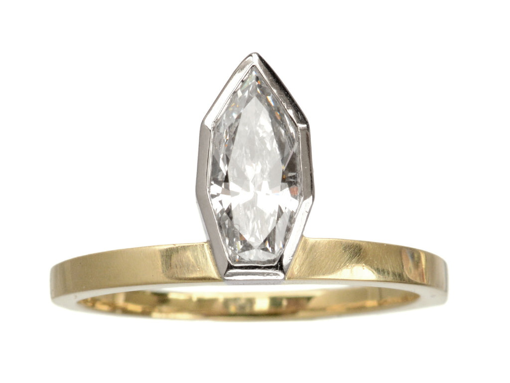 EB Diamond Rowboat Ring