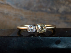 EB Double Mine Cut Ring