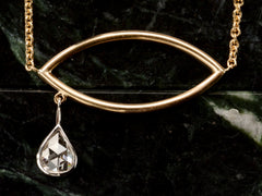 B Diamond Tear Necklace