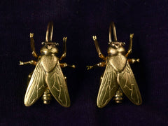 EB Modern Gold Fly Earrings