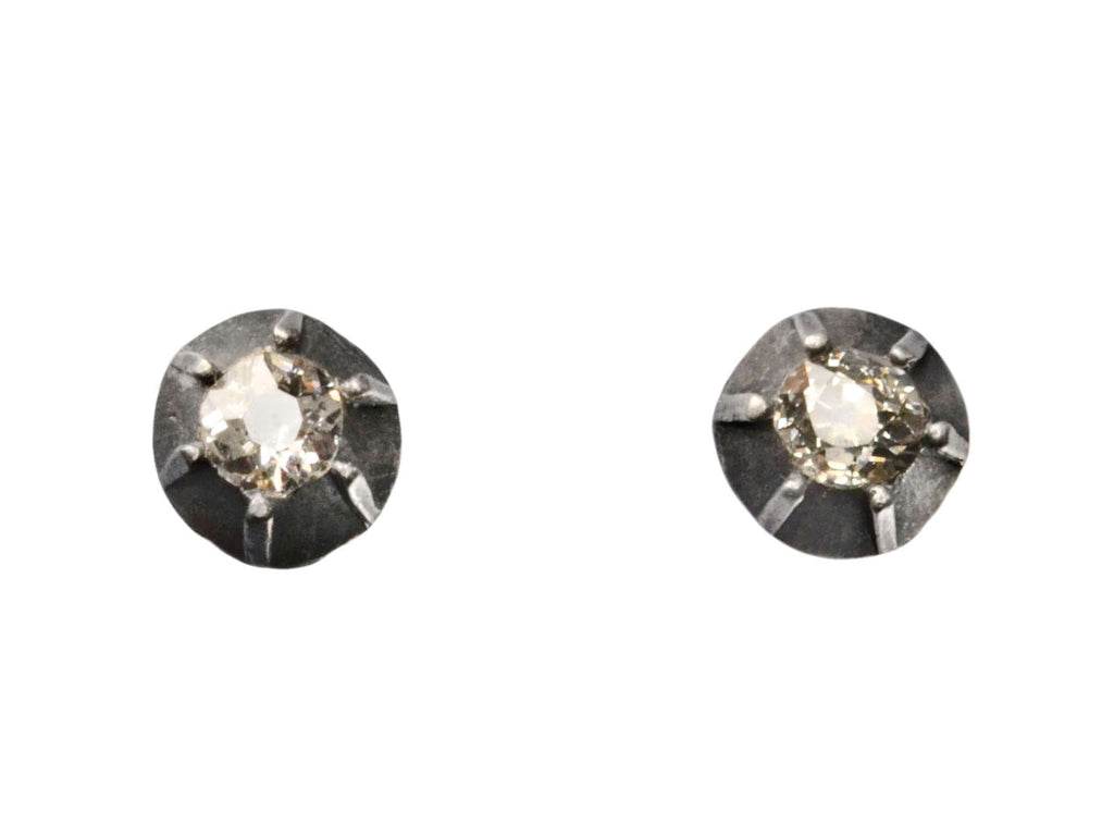 Mine Cut Diamond Studs