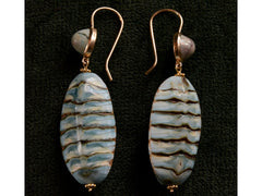 EB Mollusk & Turquoise Earrings