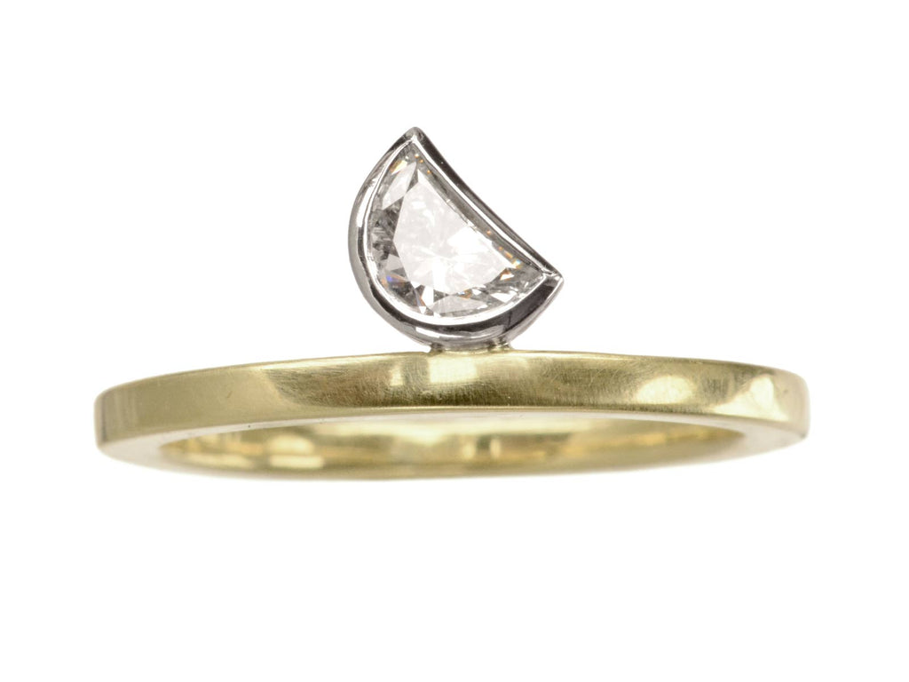 EB Crescent Moon Diamond Ring