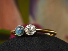 EB Diamond & Opal Ring