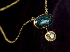 EB Boulder Opal & Yellow Diamond Necklace