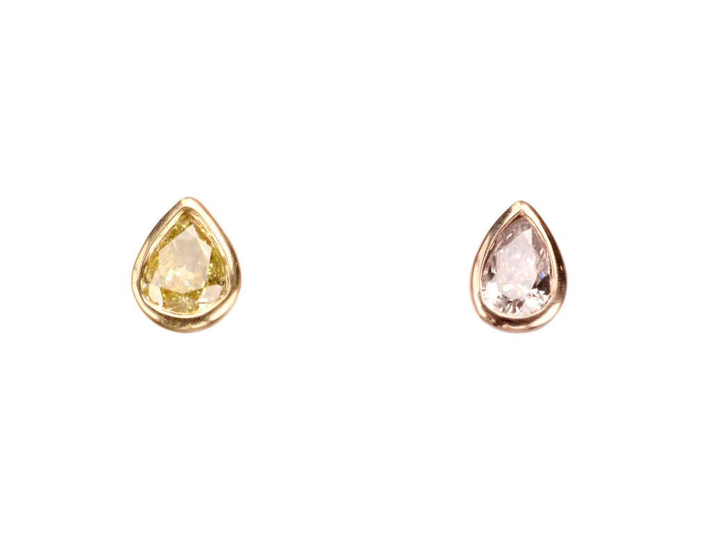 EB Pink & Yellow Pear Studs