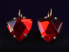 EB Foiled Red Earrings
